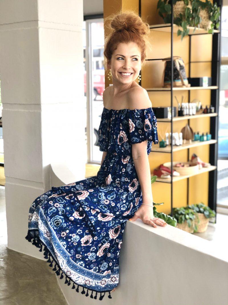 Blue- Boho Dress